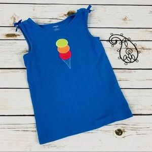Gymboree Tank Top Girls Size 6 Blue Ice Cream
